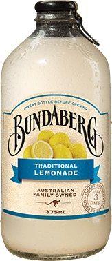 TRADITIONAL LEMONADE BUNDABERG DRINK 12 x 375ml