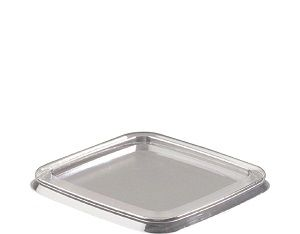 LID SUIT 300ml SQUARE CLEAR TUB CAWAY x 25 (20)