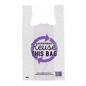 EXTRA LARGE CARRY BAG SINGLET REUSABLE (PURPLE) x 50 (10)