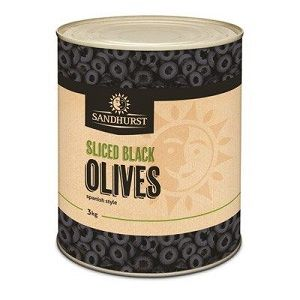 SLICED SPANISH BLACK OLIVES SHURST x A10 (6)