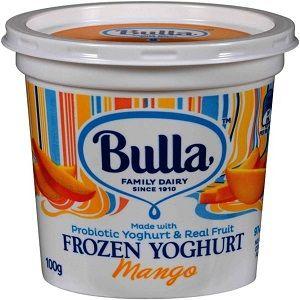 BULLA MANGO FROZEN YOGHURT CUPS 100g x 12