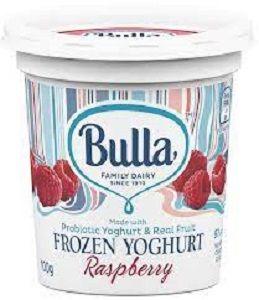 BULLA RASPBERRY FROZEN YOGHURT CUPS 100g x 12