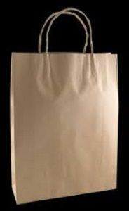 SMALL BROWN CARRY BAG TWIST HANDLES x 50 (5)