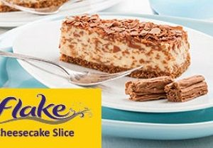 FLAKE CHEESECAKE SLICE CADBURY PRIESTLYS x 18 (6)