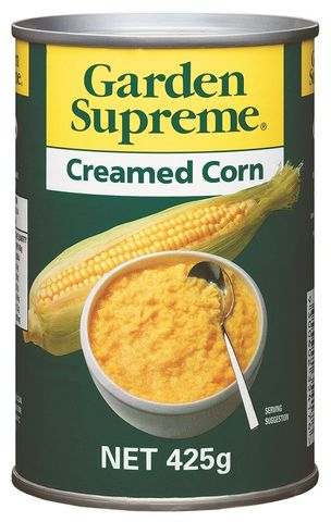 CREAMED CORN GARDEN SUPREME GFREE x 415g (24)