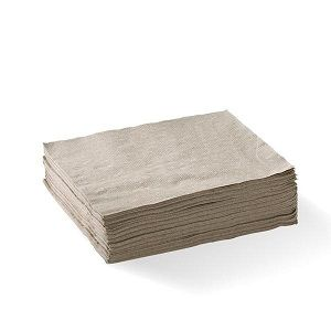 1ply BROWN NATURAL LUNCH NAPKIN CAWAY x 500 (6)