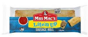 LITE N UP SAUSAGE ROLL MRS MACS 16 x 120g