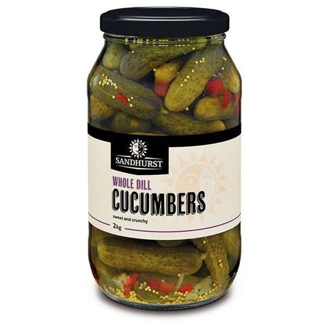 DILL CUCUMBERS WHOLE SHURST GFREE x 2kg (6)
