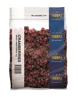 DRIED CRANBERRIES TRUMPS x 1kg (10)