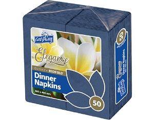 2ply DARK BLUE REDIFOLD DINNER NAPKIN x 50 (10)