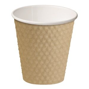 8oz BROWN DIMPLE CUP ECO 280ml x 25 (20)