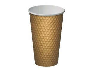 16oz BROWN DIMPLE CUP ECO 460ml x 20 (15)