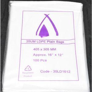 BAG PLASTIC LDPE 305 x 405mm SAVILL x 100