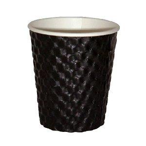 8oz BLACK DIMPLE CUP ECO 280ml x 25 (20)