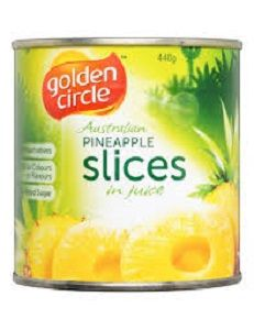 440g SLICED PINEAPPLE IN JUICE GCIRCLE (12)