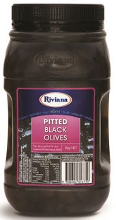 PITTED BLACK OLIVES RIVIANA GFREE x 2kg (6)