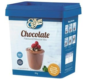 EDLYN CHOCOLATE MOUSSE DESSERT MIX x 2kg (2)