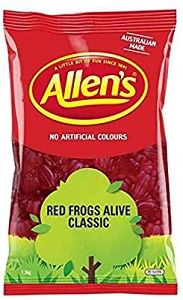 ALLENS RED FROGS x 1.3kg (6)