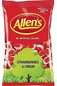 ALLENS STRAWBERRIES CREAM x 1.3kg (6)