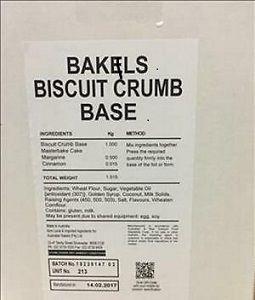 BAKELS BISCUIT CRUMB BASE MB x 15kg