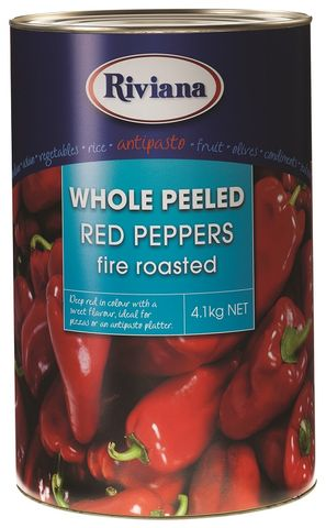 WHOLE ROAST RED PEPPER RIVIANA GFREE x 4.1kg (3)