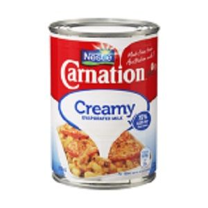 EVAPORATED MILK CARNATION CREAMY x 375ml (18)