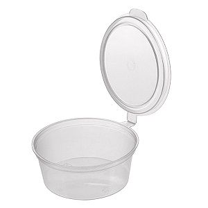 50ml ROUND CONTAINER HINGED LID x 50 (20)