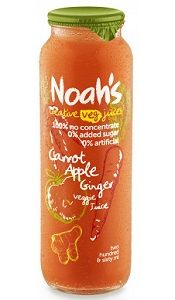 NOAHS CARROT APPLE GINGER JUICE 12x260ml