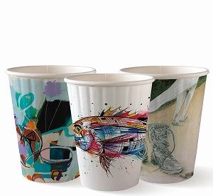 12oz ART SERIES BIO CUP DOUBLE WALL x 40 (25)