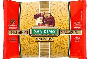 MACARONI PASTA SAN REMO 2 x 5kg