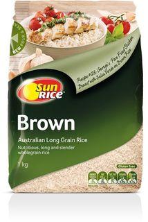 BROWN RICE MEDIUM GRAIN SUNRICE x 1kg