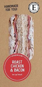ROAST CHICKEN BACON SANDWICHES ED CAFE x 12