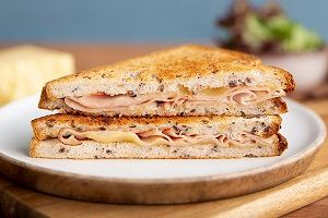 SMOKED HAM CHEDDAR SOY LINSEED SAND ED CAFE x 12