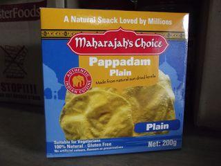 PAPPADUMS PLAIN SHARWOODS LOW FAT x 94g (8)