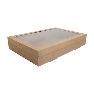 CATERING BOX EXTRA LARGE KRAFT BROWN x 10 (5)