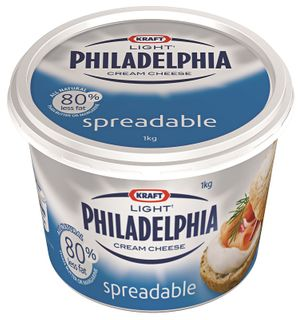 LIGHT CREAM CHEESE KRAFT PHILLY GFREE x 1kg (6)