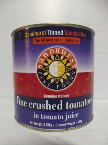 FINE CRUSHED TOMATOES SHURST GFREE x 2.5kg (6)
