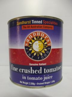 FINE CRUSHED TOMATOES SHURST GFREE x 2.5kg (6)