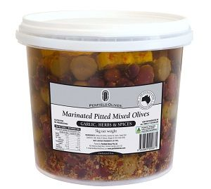 5kg MARINATED MIXED PITTED OLIVES PENFIELD