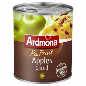 400g SLICED APPLES PIE FRUIT ARDMONA (12)