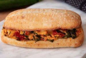 CHARGRILLED VEGETABLE CIABATTA ROLL ED CAFE x 12