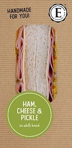 HAM CHEESE PICKLE SANDWICHES ED CAFE x 12