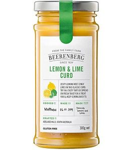 BEERENBERG LEMON LIME CURD x 300g (8)