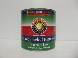 ITALIAN WHOLE PEEL TOMATO SHURST GFREE x 2.5kg (6)