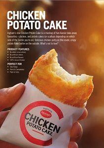 CHICKEN POTATO CAKES INGHAM x 1kg (5)