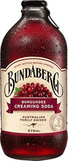 BURGUNDEE CREAMING SODA BUNDABERG 12 x 375ml