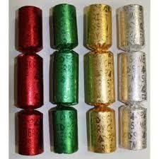 8in BON BONS GOLD SILVER GREEN RED EMBOSSED FOIL x 100 (3)