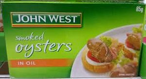 SMOKED OYSTERS IN OIL JOHN WEST x 85g (20)