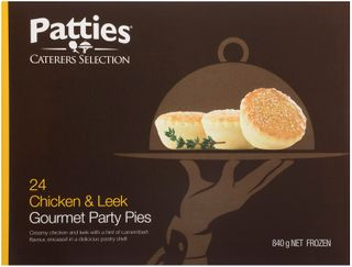 LEEK CHICK CAMEMBERT PPIE PATTIES x 24 (2)