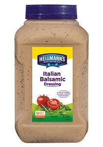 HELLMANS ITALIAN BALSAMIC DRESSING x 2.5lt (4)